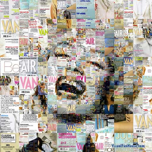 Madonna Mosaic made out of Flare magazine covers