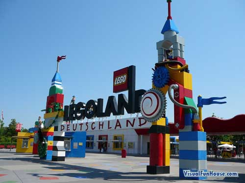Entrance to Lego land in Germany