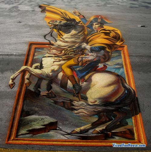 Napoleon Escapes street art