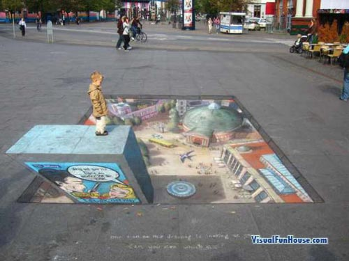 The City below 3d street drawing