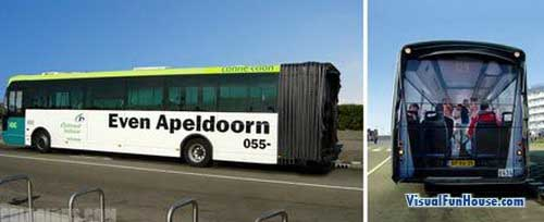 Even Apeldoorn broken Bus Advertisement