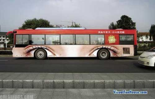 Wheel Eyes Bus Ad