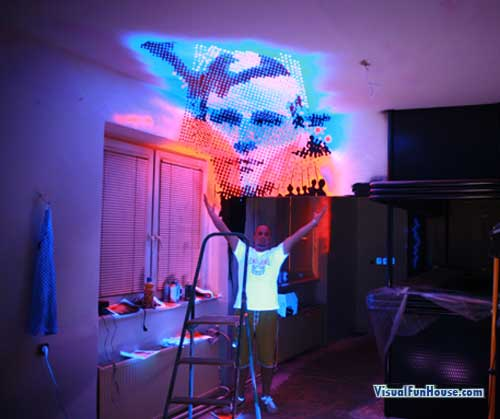 3D Painted Light Face