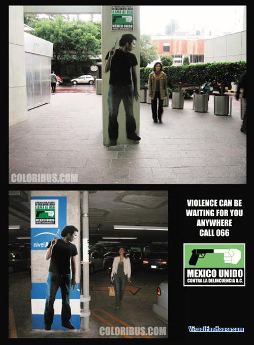 Mexico Violence Poster Optical Illusion