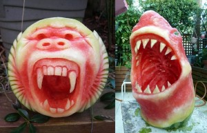 shar-monkey-watermellon